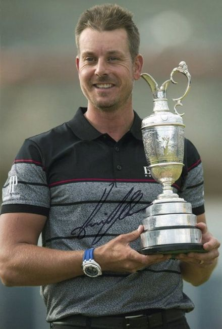 Henrik Stenson, Open Champion 2016, signed 12x8 inch photo.
